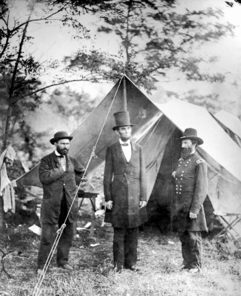 President Lincoln at the Antietam battlefield