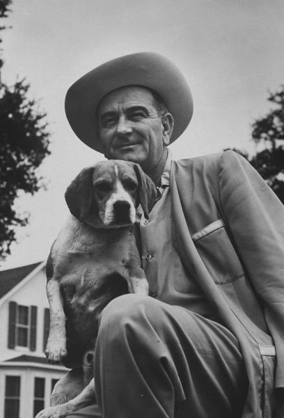 LBJ with his Beagle